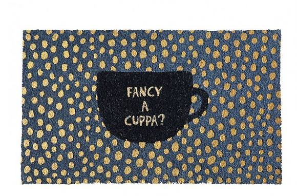 Fancy A Cuppa Door Mat
