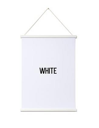 Magnetic Print Frame White