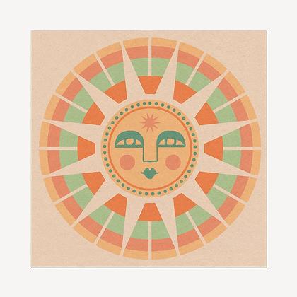 Sun Face Print