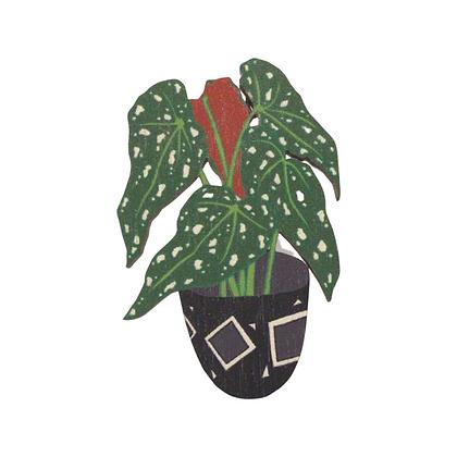Plant Pin Badge Begonia