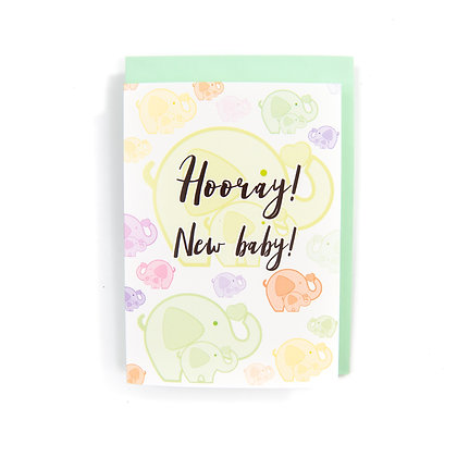 New Baby Card An Independent Zebra
