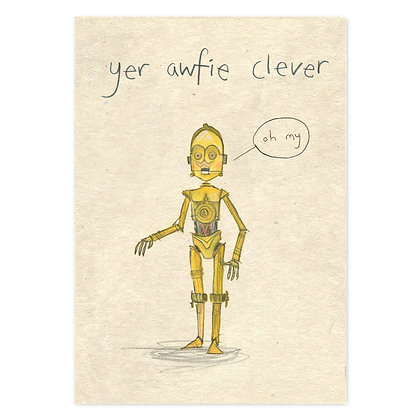yer awfie clever card by The Grey Earl