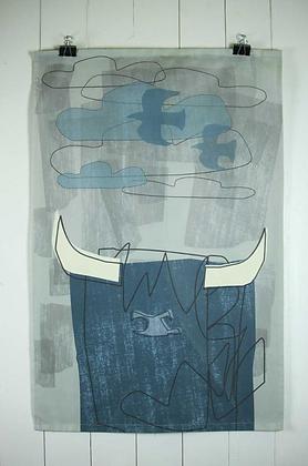 Highlander Tea Towel Blue