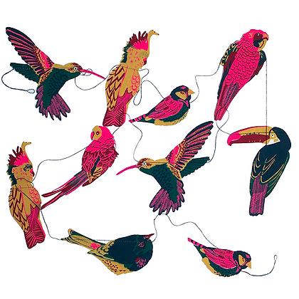 Tropical Birds Garland