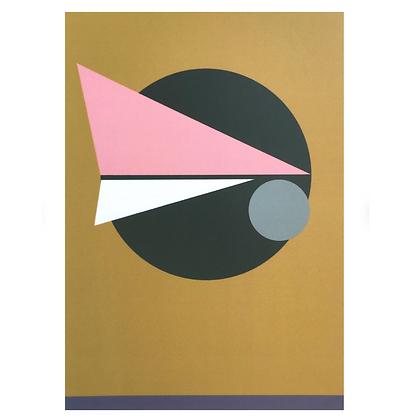 Geometric Art Card Gold (Single)