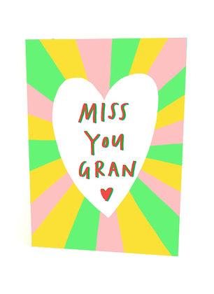 Miss you gran card