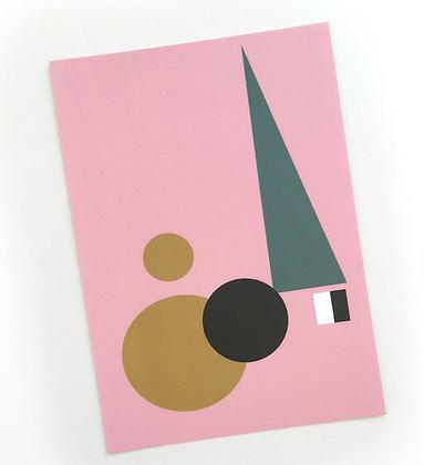 Geometric Art Card Pink (Single)