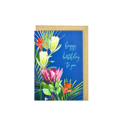 Happy birthday to you floral card
