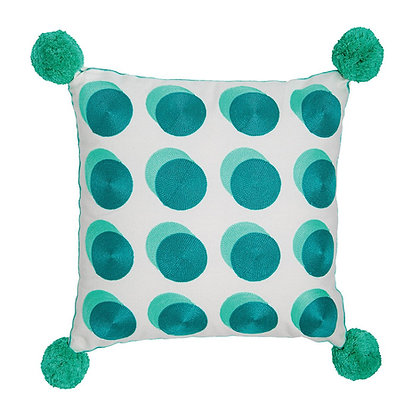 Spotty Cushion Green