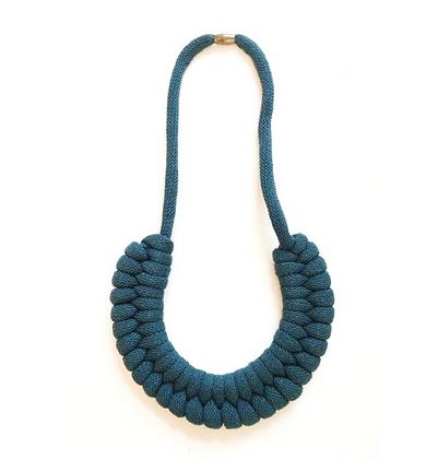 Peacock Cotton Cord Necklace
