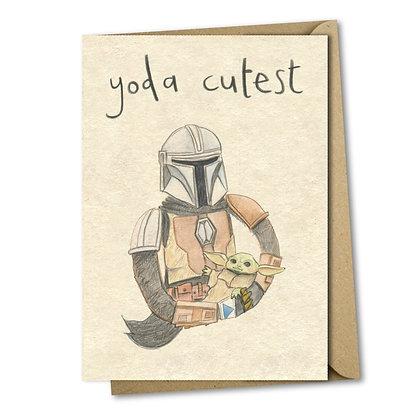 Yoda Cutest The Grey Earl Card
