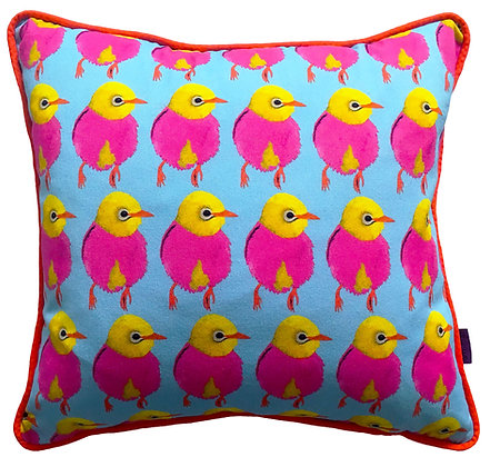 Neon Bird Cushion