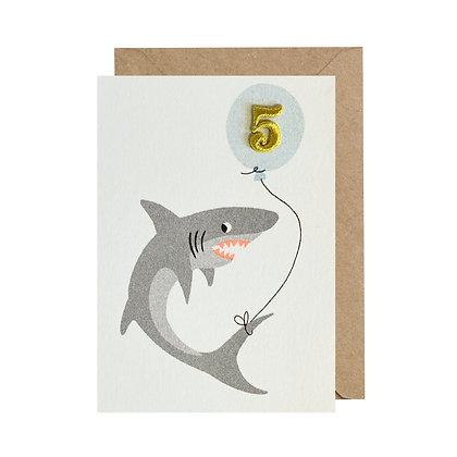 Age 5 Card - Shark