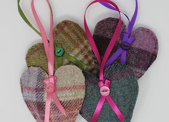 Tweed Lavender Heart