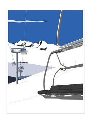 Ski Lifts Print
