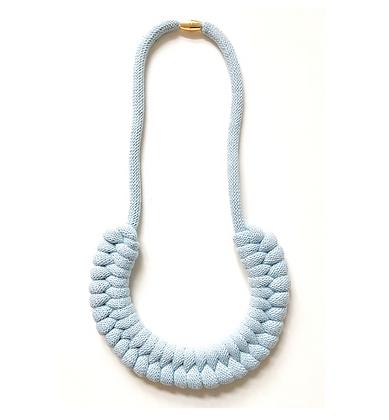 Light Grey Cotton Cord Necklace