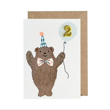 Age 2 Card - Bear