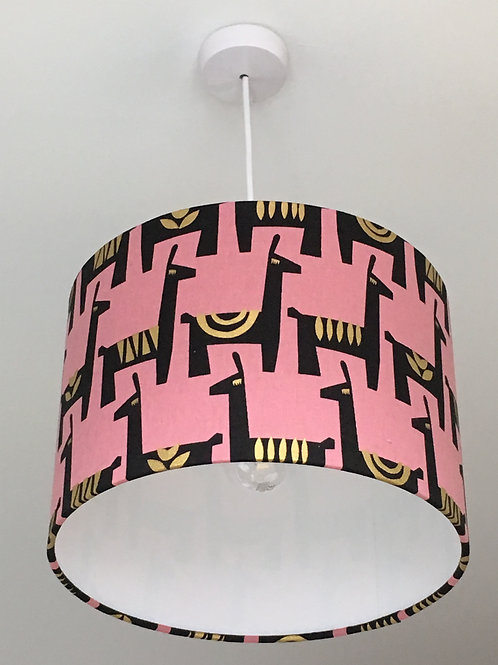 Llama Pink Lampshade