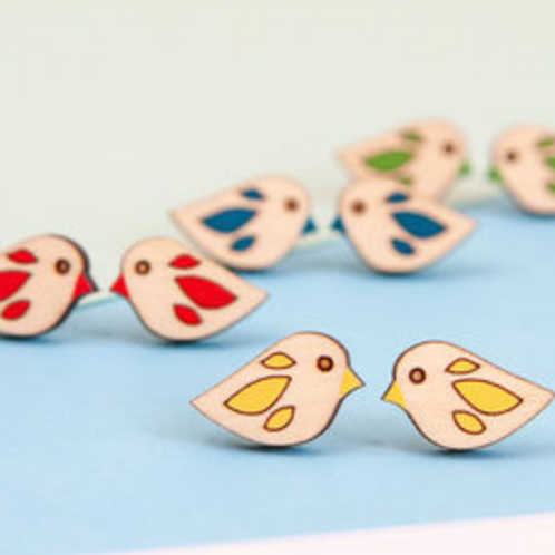 Bird Stud Earrings