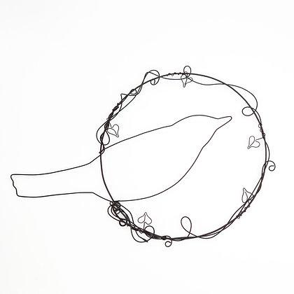Blackbird wire art by Shiny Star Creations