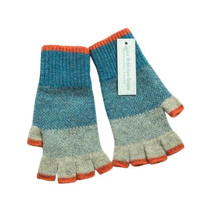 Ladies Heather Woollen Fingerless Gloves