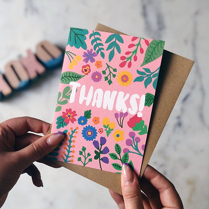 Thank you card An Independent Zebra Edinburgh