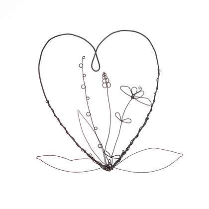 Wire Art Flowes With Love