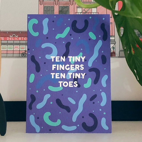 Tiny Toes (Blue) Card