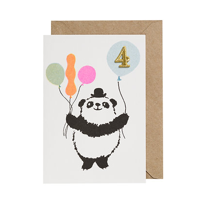 Age 4 Card - Panda