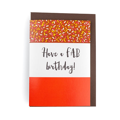 FAB Birthday Card