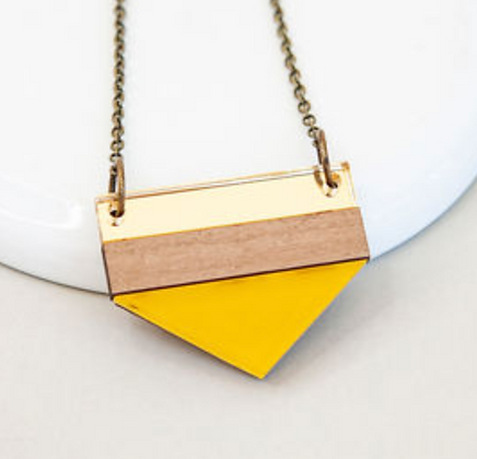 Yellow Point Necklace