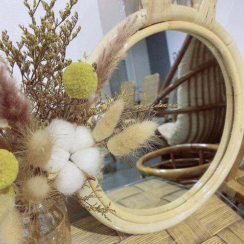 Rattan Rabbit Ear Mirror (New Arrival)