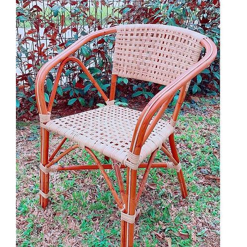 Woven Grand Brown Rattan Chair (Vintage) *Backorder*