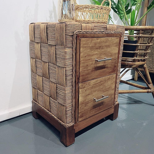 Artificial Cube Rattan Side Table (New Arrival)