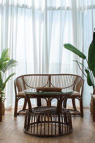 Brown Rattan Sofa Set (New Arrival)