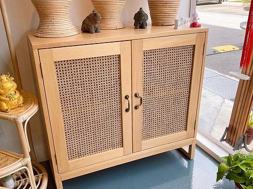 Rattan White Oak  Shoes/Cabinet (New Arrival)