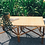 Thumbnail: Brown Rattan Bench With ZigZag White Oak New Arrival