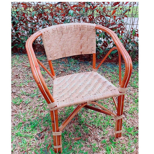 Woven Grand Brown Rattan Chair (ZigZag) (Backorder)