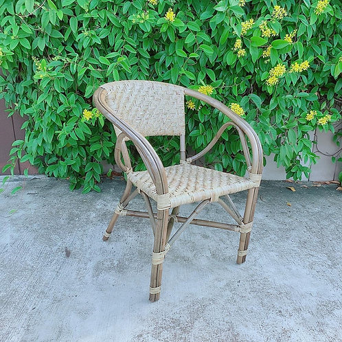 Grand Woven Zigzag Rattan Chair (New  Arrival)