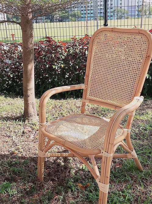 natural rattan webbing chair with white oak (Backorder)