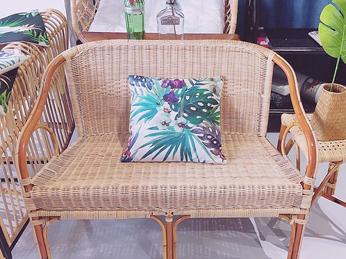 Two Seater Brown Rattan Wicker Italy Chair (New Arrival)