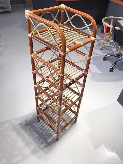 Brown Rattan Mini Layer Multi-Purpose Rack