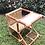 Thumbnail: Brown rattan with white oak stool