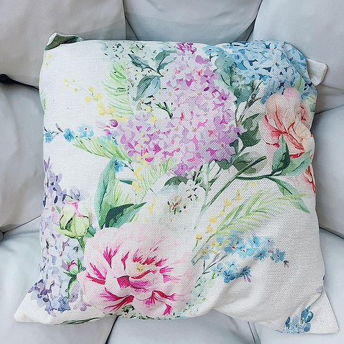 Poney Flowers Cushion With Cover (New Arrival)
