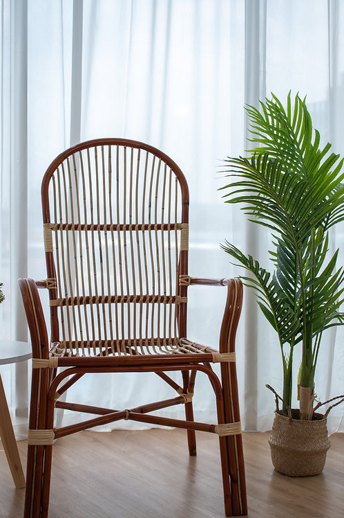 Brown Round Cane Patio Chair (New Arrival)