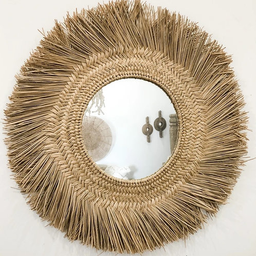 Braided Seagrass Mirror 70cm