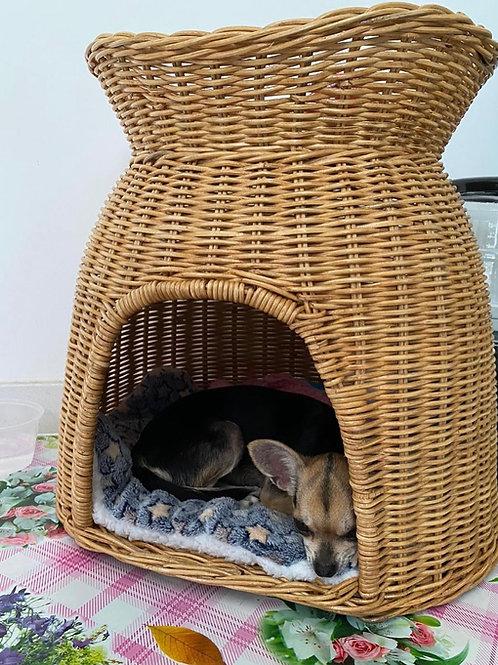 Rattan Wicker Pet House