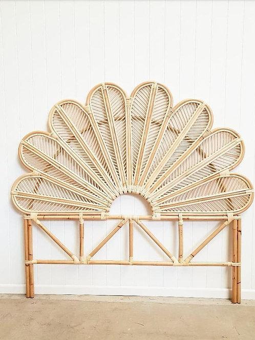 Leaves Rattan Headboard (Queen)