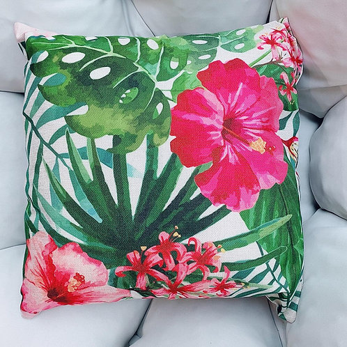 Orchid Artificial Flower Cushion With Cover (New Arrival)