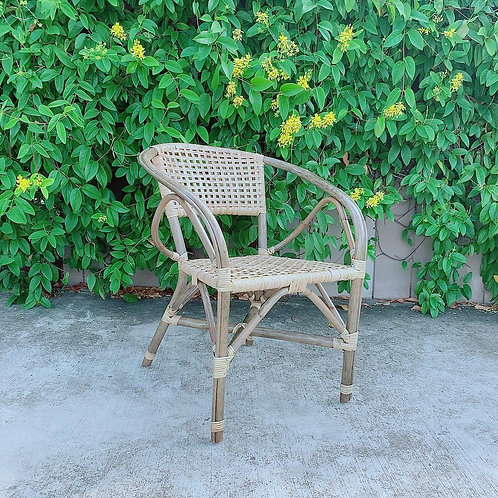 Checked Rattan Chair (New Arrival)